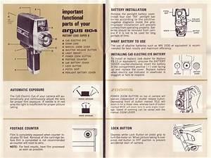 Argus 804 Power Zoom Movie Camera Instruction Manual