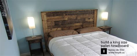 How To Make A King Size Headboard by Build A King Sized Pallet Headboard Diywithrick