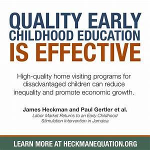 High-Quality Home Visiting Programs - The Heckman Equation