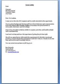 cover letter for resume sle for freshers cover letter for freshers