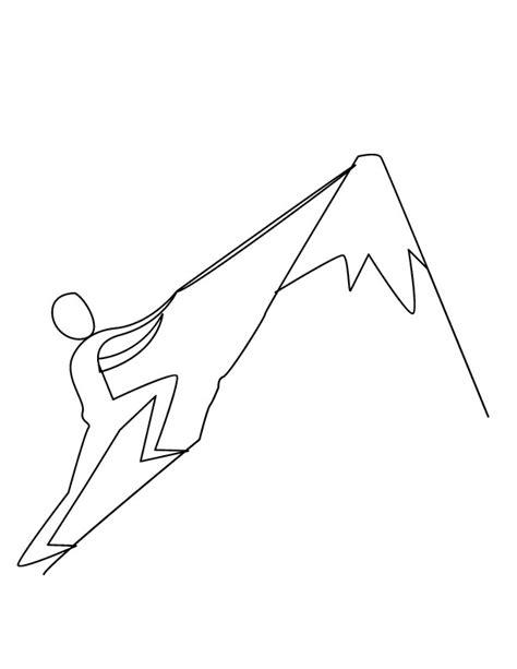 coloriage grimpeur simple dessin gratuit 224 imprimer