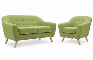 Fauteuil Scandinave Vert : salon scandinave 2 places fauteuil vert pi ce vivre ~ Teatrodelosmanantiales.com Idées de Décoration