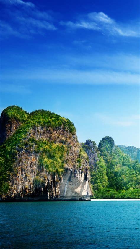 wallpaper thailand   wallpaper ocean rocks sky