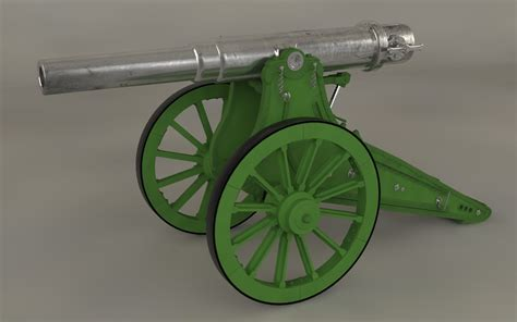 siege canon 6 inch siege cannons 3d model