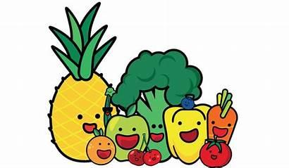 Healthy Cartoon Eat Vegetables Meal Meals Children