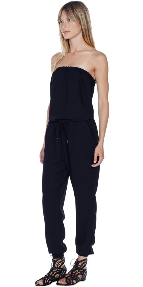 joie jumpsuit joie fairley jumpsuit in black lyst