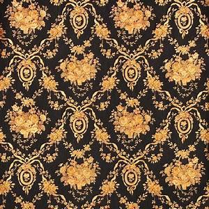European Luxury Black Floral Background Wallpaper 3D ...