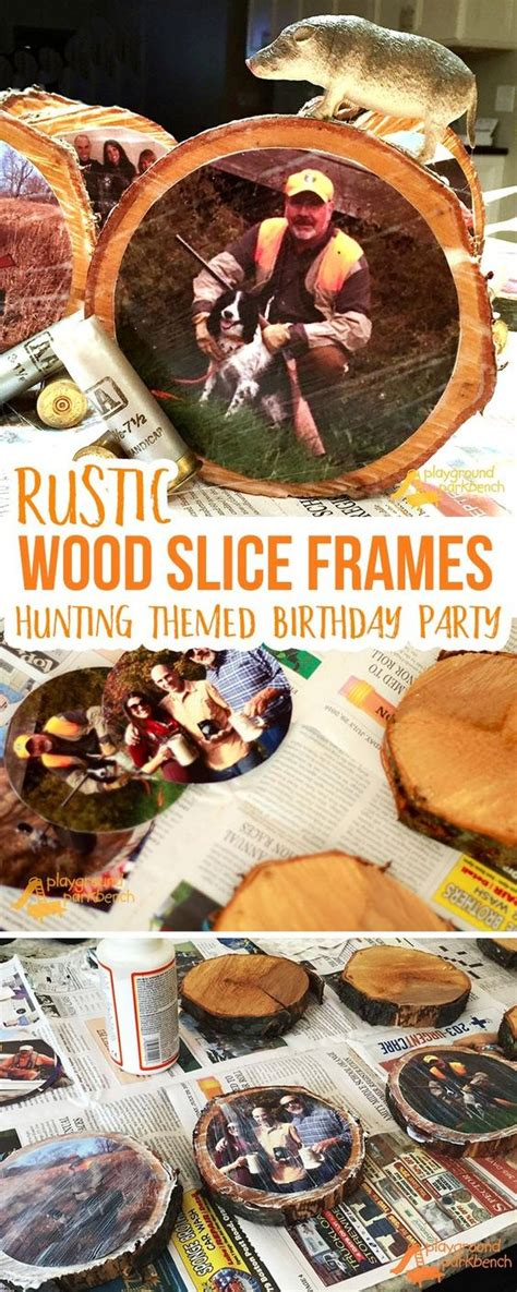 ultimate hunting themed birthday party rustic wood diy