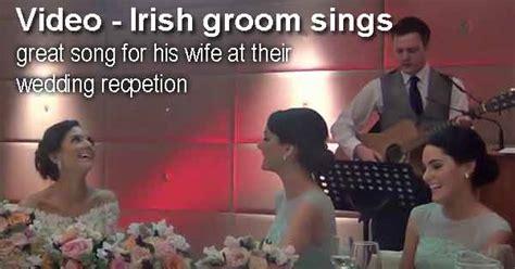 Irish Groom Sings Wedding Reception Speech