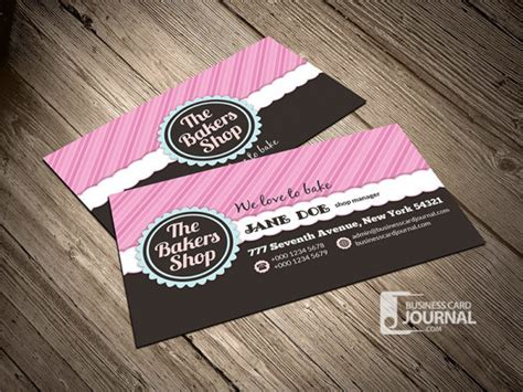 fancy bakery business card template  behance