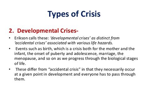 Crisis Intervention In Psychiatry