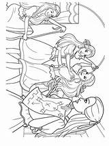 Barbie Coloring Three Musketeers Printable Bright Colors Favorite sketch template