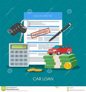 Approved Car Loan Vector Illustration. Buying Automobile ...