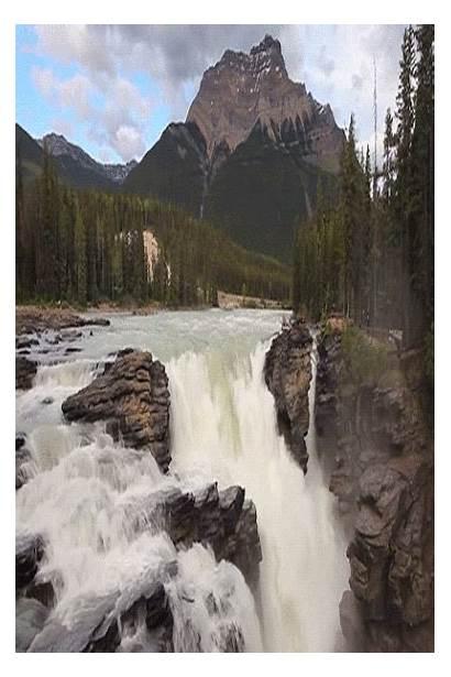 Gifs Waterfalls Fall Waterfall Water Mountain Park
