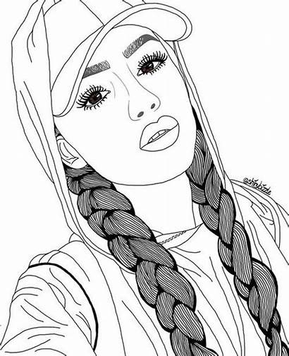 Drawings Drawing Easy Hair Outline Sketches Discover