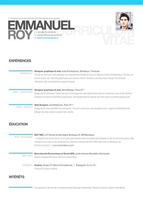 cool modern resume clean easy to read resumes