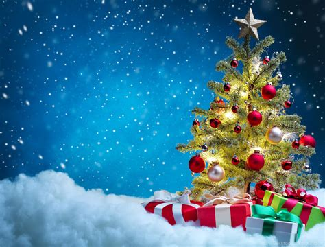 Holidays Christmas Gifts Christmas Tree Snow>> Hd Wallpaper, Get ... Desktop Background