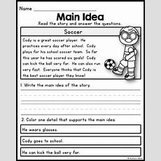Free Main Idea Practice Pages For Beginners By Kaitlynn Albani Tpt