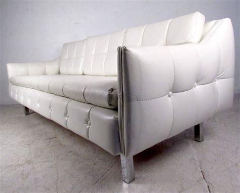 white vinyl sectional sofa mid century tufted white vinyl sofa for sale at 1stdibs