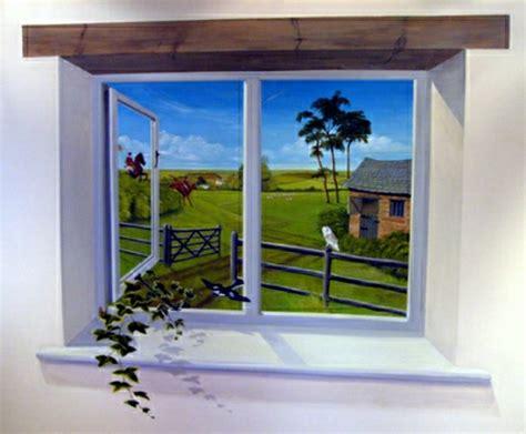 creer sa chambre une trompe l 39 oeil fenêtre la magie que vous allez adorer