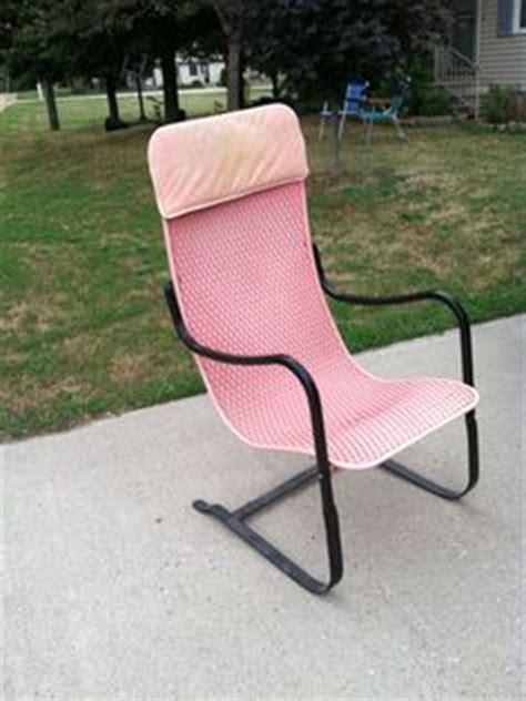 reserved for steve hoffmann retro orange patio chair