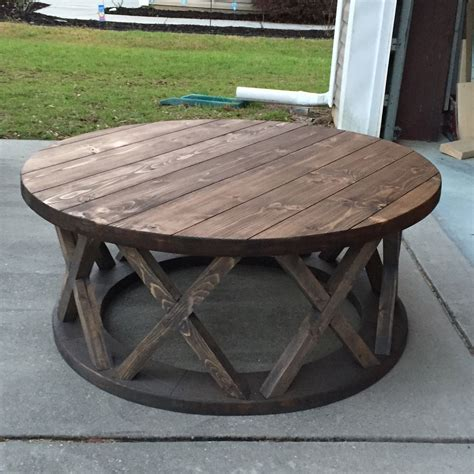 """Shop for metal patio coffee table online at target. Custom built 42"""" round x brace farmhouse coffee table (With images) 