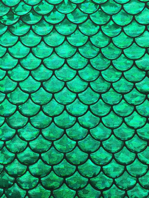 stretch foil mermaid fish scales green on black spandex 4 way stretch foil