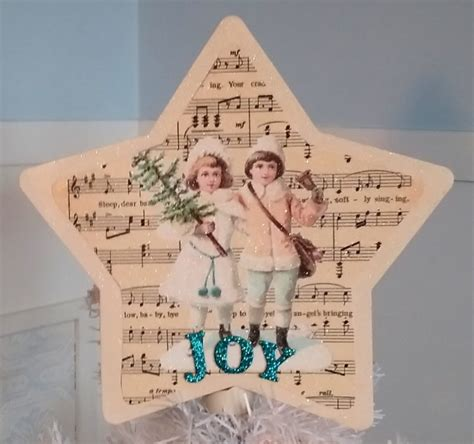 shabby chic christmas tree toppers antique white shabby chic vintage victorian christmas tree topper