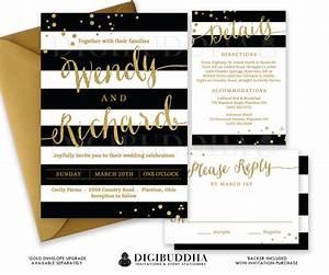 black white wedding invitation gold glitter confetti 3 With cheap gold and white wedding invitations