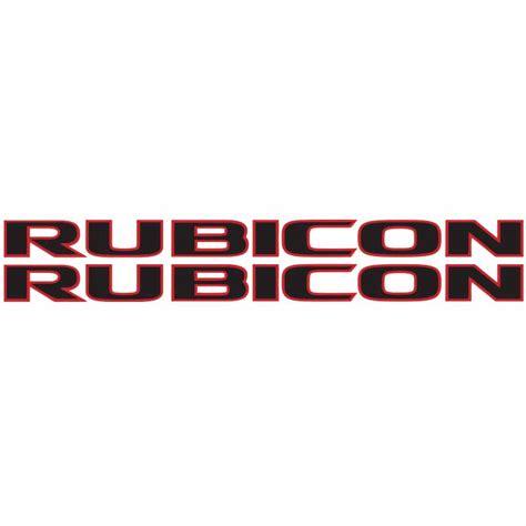 jeep wrangler rubicon logo rubicon hood decal blk red alphavinyl