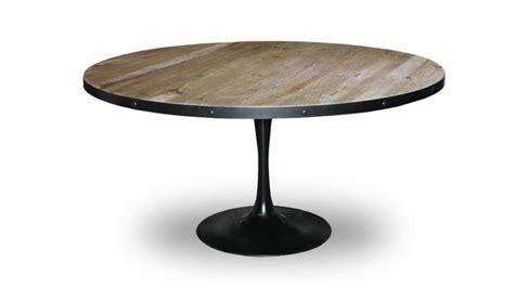 table de salle 224 manger ronde cogolin en m 233 tal et bois de style industriel mobilier moss