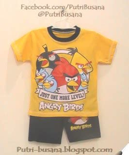 stelan koko cars kartun anak angry birds putri busana