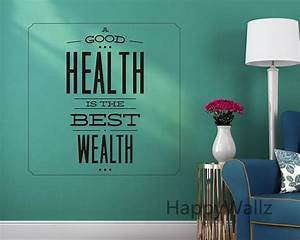 motivational quote wall sticker good health is best wealth With best 20 lettering decals for the wall