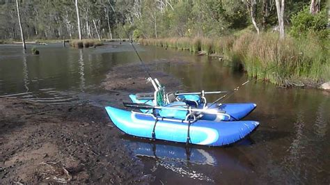 Inflatable Boat Fishing Youtube by Aussie Inflatable Pontoon Boats Youtube