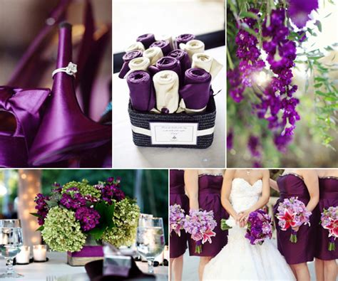 Fall Wedding With Plum Touches