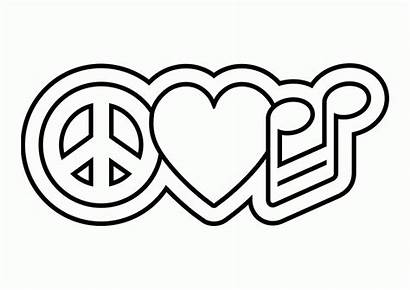 Peace Coloring Pages Sign Symbols Printable Symbol