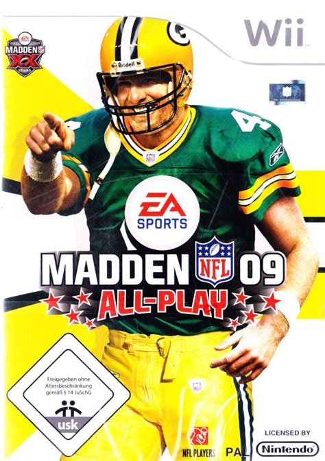 Gamis Ff09 09 madden nfl 09 all play for wii 2008 mobygames