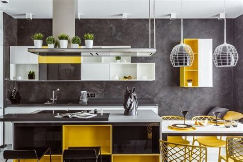 Yellow Kitchen Designs, Decor Ideas, Photos   Home Decor Buzz