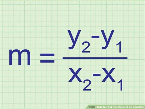 Slope Equation Formula by 3 Ways To Find The Slope Of An Equation Wikihow