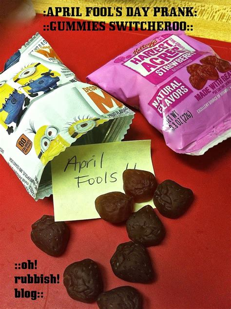 April Fools Day Prank Quick Easy Gummies