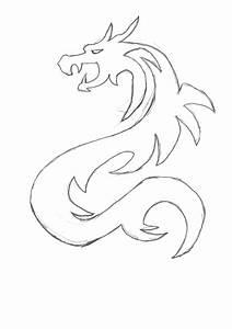 Images For > Simple Dragon Sketches | Paintings ...