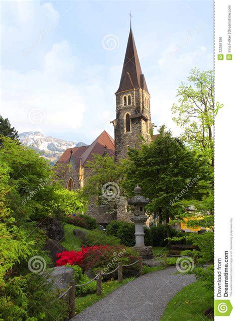 Japanischer Garten Interlaken by A Beautiful Church In Interlaken Switzerland Stock Photo