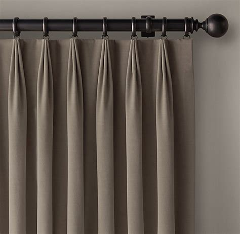 custom pleated drapes custom vintage velvet 3 fold tailored pleat drapery