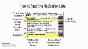 How to read a medication label youtube for How to read medication labels