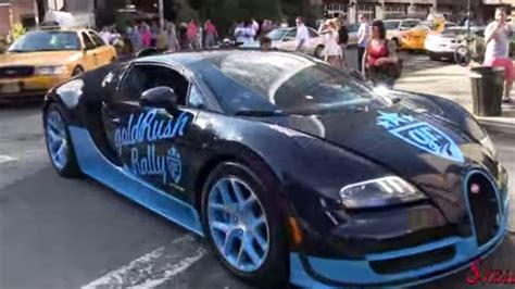 Regardez La Bugatti Veyron Rouler Dans Les Rues De New York