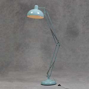 Large sky blue floor lamp retro vintage angle poise style for Giant retro floor lamp the range
