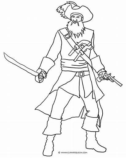 Pirate Coloring Blackbeard Pages Drawing Adults Ship