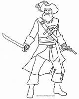 Pirate Blackbeard Coloring Pages Sword Drawing Ship Adults Printable Sketch Getdrawings Getcoloringpages Hat Clipartqueen Template sketch template