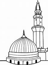 Masjid Drawing Kaaba Coloring Islamic Pages Outline Mosque Mecca Sketch Islam Worksheets Allah Sheets Drawings Mosques Clipartmag Nabvi Worksheet Pattern sketch template