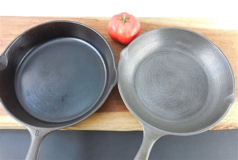 vintage cast iron cookware finishing smooth  concentric grind marks olde kitchen